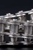Metal link chains. Close up of metal link chains Royalty Free Stock Photo