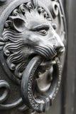 Metal lion head Stock Photos