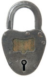 Metal lock Royalty Free Stock Photos
