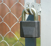 Metal Lock closeup Royalty Free Stock Image
