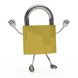 Metal lock figure Royalty Free Stock Photo