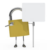 Metal lock figure Royalty Free Stock Photography