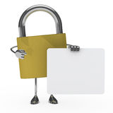 Metal lock figure Royalty Free Stock Images