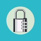 Metal lock flat design vector Stock Photos