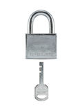 Metal lock and key. Royalty Free Stock Image