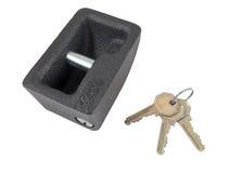 Metal lock and keys Stock Image