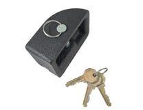 Metal lock and keys Stock Photo