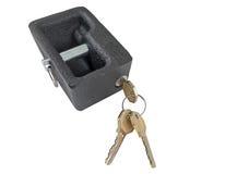 Metal lock and keys Royalty Free Stock Photo