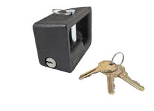 Metal lock and keys Royalty Free Stock Photography