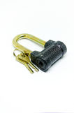 Metal lock with keys Stock Photography