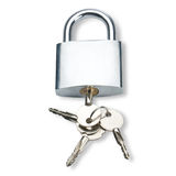 Metal lock with keys Royalty Free Stock Images