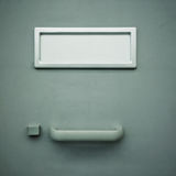 Metal locker with blank label Royalty Free Stock Image