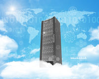 Metal locker on cloud in sky Royalty Free Stock Photos