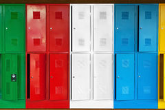 Metal lockers Royalty Free Stock Images