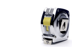 A metal locking tape measure Royalty Free Stock Image