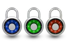 Metal Locks 3D Royalty Free Stock Image