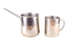 Metal los accesorios al café Imagen de archivo libre de regalías