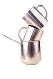 Metal los accesorios al café Foto de archivo