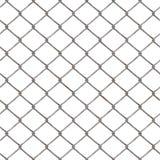 Metal los alambres de metal netos, entrelazados en un fondo blanco Cerca del metal Imágenes de archivo libres de regalías
