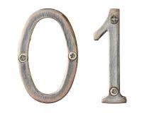 Metal los números fotos de archivo
