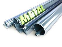 Metal los tubos, ángulos, canales, cuadrados Foto de archivo