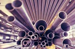 Metal los tubos Fotografía de archivo