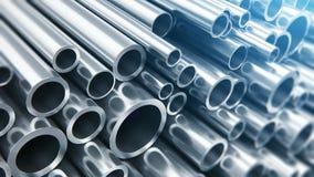 Metal los tubos almacen de metraje de vídeo