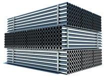 Metal los tubos Acero de acero del material de industry Imagen de archivo