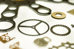 Metal machined parts Stock Photography