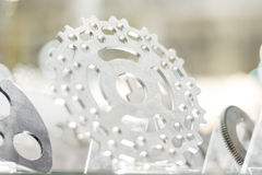 Metal machined parts Stock Images