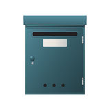 Metal mailbox. Over white background Stock Photography