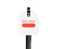 Metal Mailbox on white Stock Photo