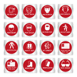 Metal mandatory signs used in industrial applications. Metal mandatory signs , Construction health and safety sign used in industrial applications,Vector Stock Photos