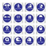 Metal mandatory signs used in industrial applications. Metal mandatory signs , Construction health and safety sign used in industrial applications,Vector Stock Photography