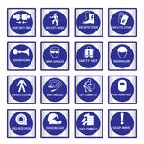 Metal mandatory signs used in industrial applications. Metal mandatory signs , Construction health and safety sign used in industrial applications,Vector Royalty Free Stock Photography