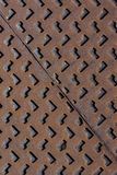 Metal Manhole Cover Steel Heavy Industrial Rusty Texture Background Stock Image