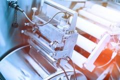 Metal maszyna z dyszlami Błękitny brzmienie Błękitny odcień obrazy royalty free