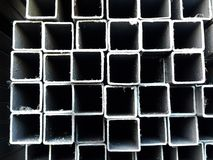 Metal material pipe for industry construction Stock Photo