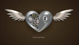 Metal mechanical heart Royalty Free Stock Image