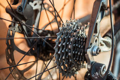 Metal mechanism from the bike stock photos