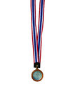 Metal medal. Over white background Royalty Free Stock Photography