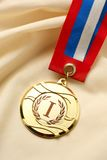 Metal medal first place Stock Photo