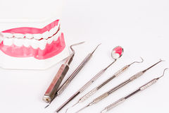 Metal medical equipment tools Stock Photography