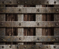 Metal medieval castle antique background Stock Photos