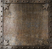Metal medieval door background Royalty Free Stock Photos