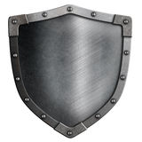 Metal medieval shield isolated Royalty Free Stock Images