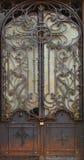 Metal medieval vintage door background Stock Photos