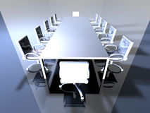 Metal Meeting Room 1 Royalty Free Stock Photos