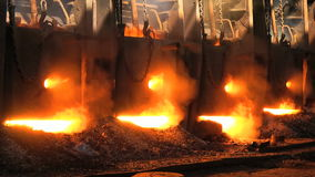 Furnace at the metallurgical plant stock footage