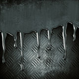 Metal melting. On grunge background royalty free stock images